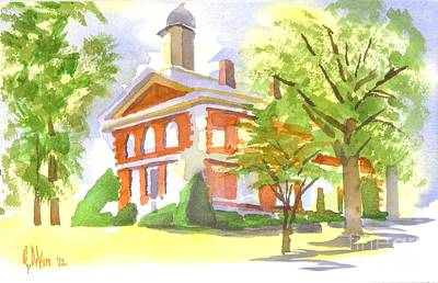 Mellow September At The Courthouse Original by Kip DeVore