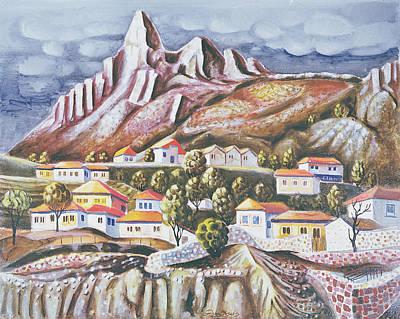 Folk Art Photograph - Melnik, 1973 Oil On Canvas by Radi Nedelchev