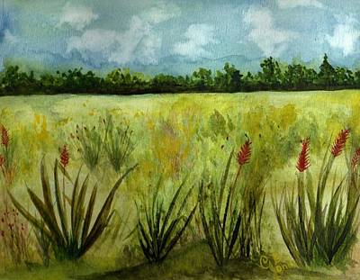 Painting - Melodic Meadow by Chris Bajon Jones