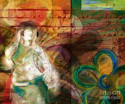 Dance Mixed Media - Melody by Bedros Awak