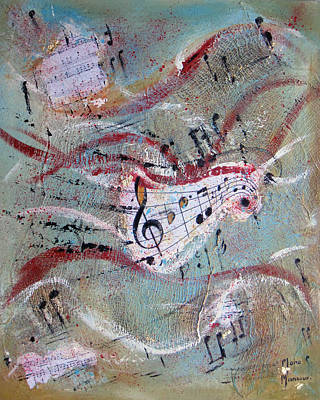 Painting - Melody by Mona Mansour Jandali
