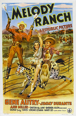 Autry Photograph - Melody Ranch, Us Poster Art, From Left by Everett