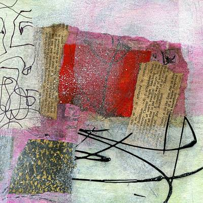 British Abstract Art Painting - Melody by Shuya Cheng