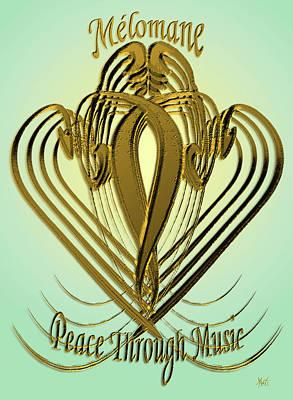 Talmud Digital Art - Melomane - Peace Through Music by Michele Avanti