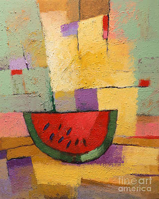 Stillife Painting - Melon by Lutz Baar