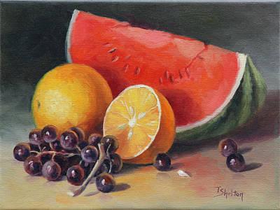 Melon Orange And Grapes Original