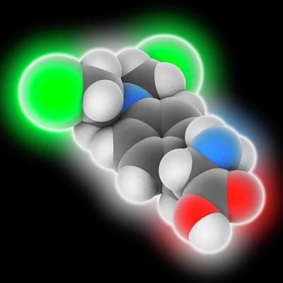Melphalan Drug Molecule Art Print by Laguna Design