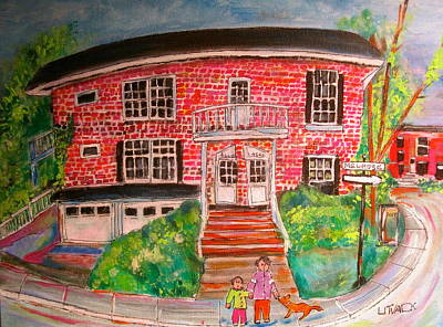 N.d.g. Duplex Painting - Melrose In Notre Dame De Grace by Michael Litvack