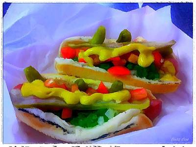 Painting - Mel's Chicago Style Hot Dog by Buzz Coe