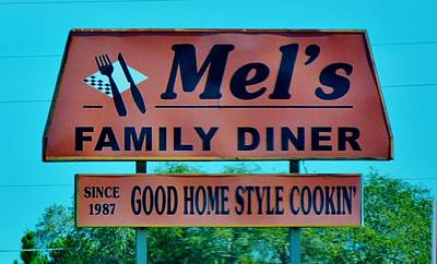 Photograph - Mel's Diner by Tamara Michael