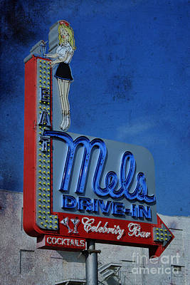 Mels Drive In Celebrity Bar Art Print by Janice Rae Pariza