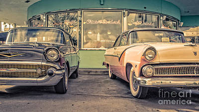 Chrome Grill Photograph - Mel's Drive-in by Edward Fielding