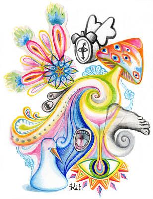 Swirly Drawing - Melt by Kit Clock