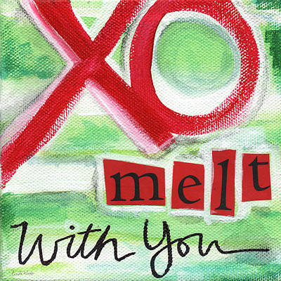 Family Love Painting - Melt With You by Linda Woods