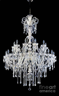 Crystal Digital Art - Melting Chandelier by Jon Neidert