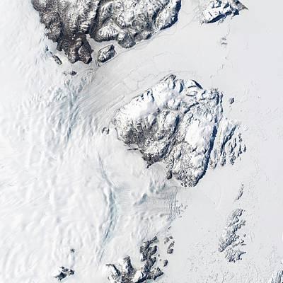 Melting Greenland Glaciers Print by Nasa/usgs