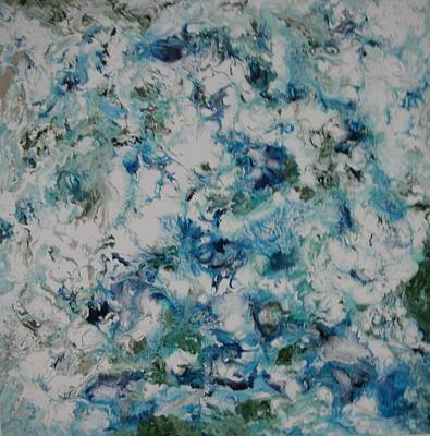 Aeriel View Painting - Melting Ice 2 by Bruce Brand