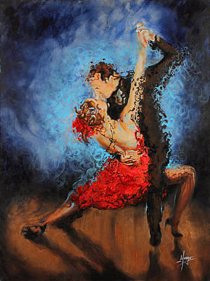 Tango Painting - Melting by Karina Llergo