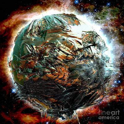 Digital Art - Melting Planet by Bernard MICHEL
