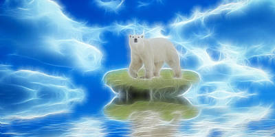 Global Warming Digital Art - Melting Polar Ice  by Sharon Lisa Clarke