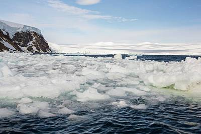 Melting Sea Ice At Suspiros Bay Art Print