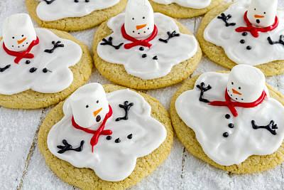 Photograph - Melting Snowmen Sugar Cookies by Teri Virbickis