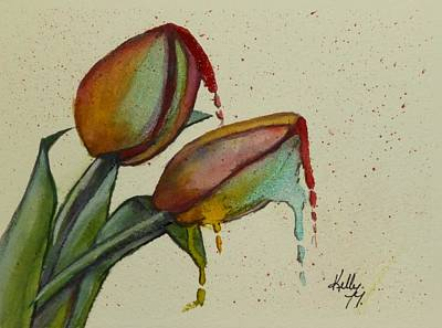 Melting Tulips Art Print