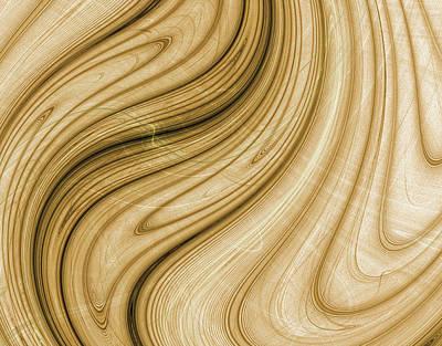 Dali Inspired Digital Art - Melting Wood - Dali Inspired by Pennie Gibson