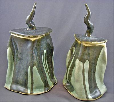 Sculpture - Meltings 05-010 And 11 by Mario MJ Perron