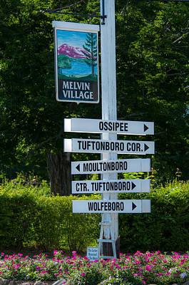 Photograph - Melvin Village Sign Photography by Brenda Jacobs
