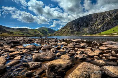 Lakes Digital Art - Melynllyn Reservoir by Adrian Evans