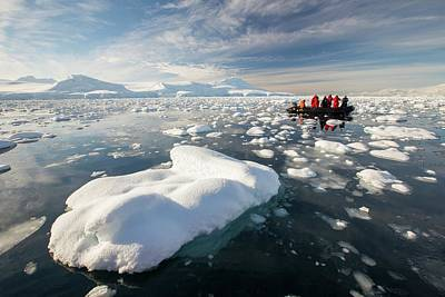 Inflatable Boats Photograph - Members Of An Expedition Cruise by Ashley Cooper