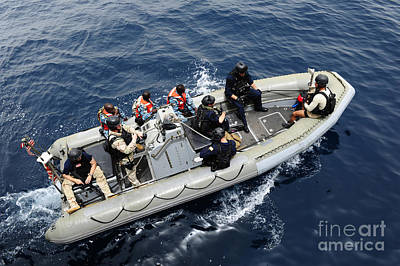 Inflatable Photograph - Members Of The U.s. Coast Guard, U.s by Stocktrek Images