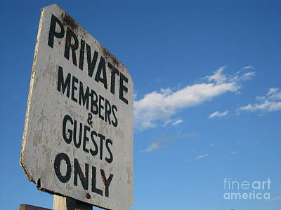 Photograph - Members Only by Barbara Bardzik