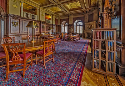 Photograph - Members Room Library Of Congress by Susan Candelario