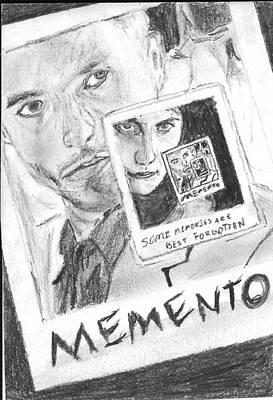 Christopher Nolan Drawing - Memento by Sean Cordy