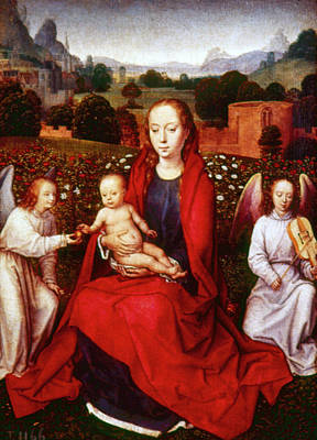 Painting - Memling Virgin And Child by Granger