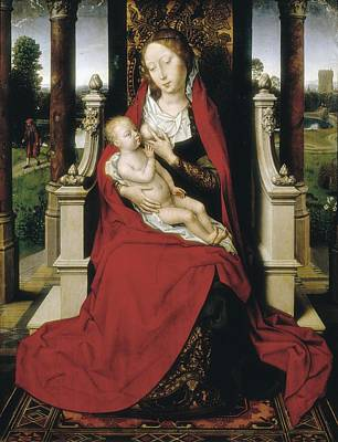 Royal Chapel Photograph - Memlinghans 1433-1494. Madonna. 1475 by Everett