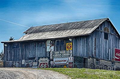 Photograph - Memorabilia  Barn by Peggy Franz