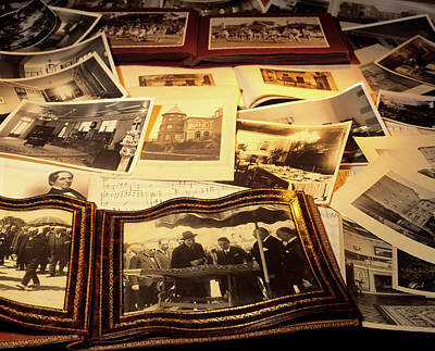 Memorabilia Old Photographs And Sheet Art Print