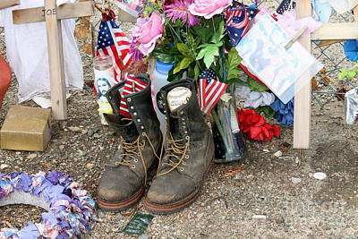 Photograph - Granite Mountain Memorial Fence 3 by Pamela Walrath