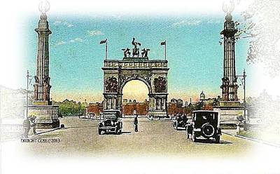 Painting - Memorial Arch- Brooklyn N Y- 1935 by Dwight Goss