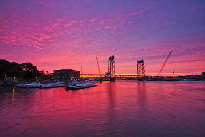 Photograph - Memorial Bridge Sunset by Robert Clifford