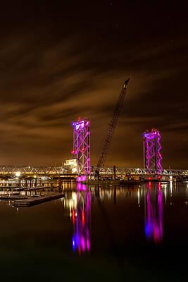 Photograph - Memorial Bridge Under The Stars by Jeff Sinon