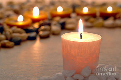 Photograph - Memorial Candles by Olivier Le Queinec