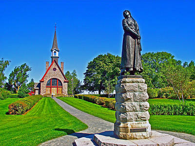 Memorial Church And Sculpture Of Evangeline At Grand-pre National  Art Print by Ruth Hager