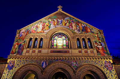 Stanford University Photograph - Memorial Church At Night by Scott McGuire