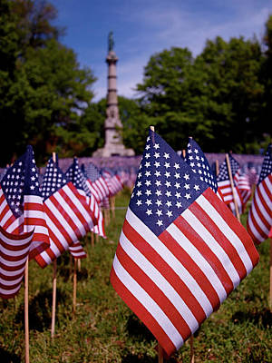 Photograph - Memorial Day Flag Garden by Rona Black