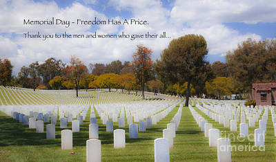 Memorial Day - Freedom Has A Price Art Print by Jerry Cowart