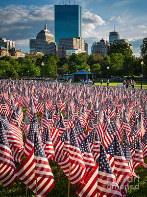 Reflective Photograph - Memorial Day In Boston by Inge Johnsson